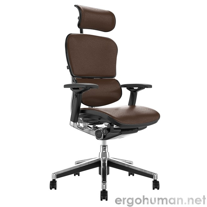 Ergohuman Elite Brown Leather Office Chair