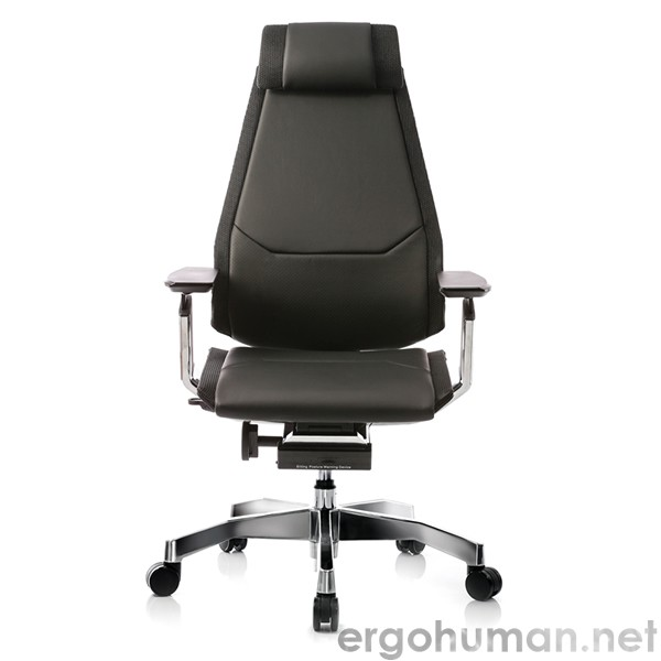 Genidia Black Leather Office Chairs