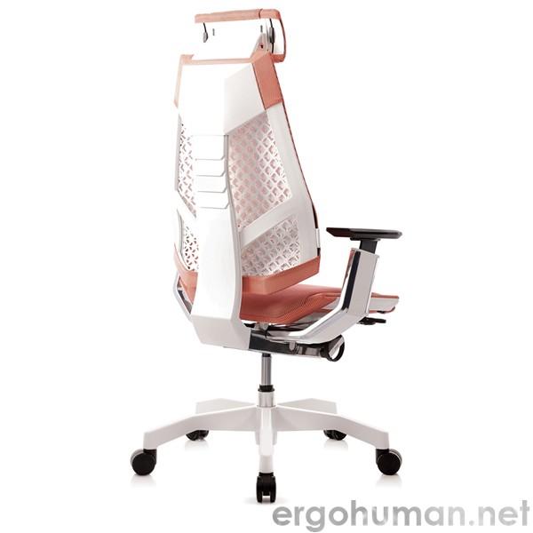 Genidia White Frame Office Chair