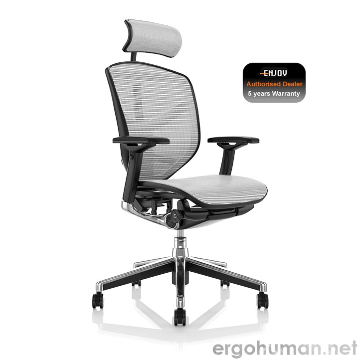 Enjoy White Mesh Office Chair