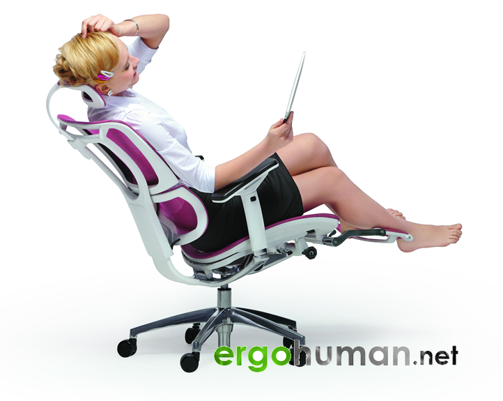 Mirus Mesh Office Chairs Lumbar Support with Leg Rest