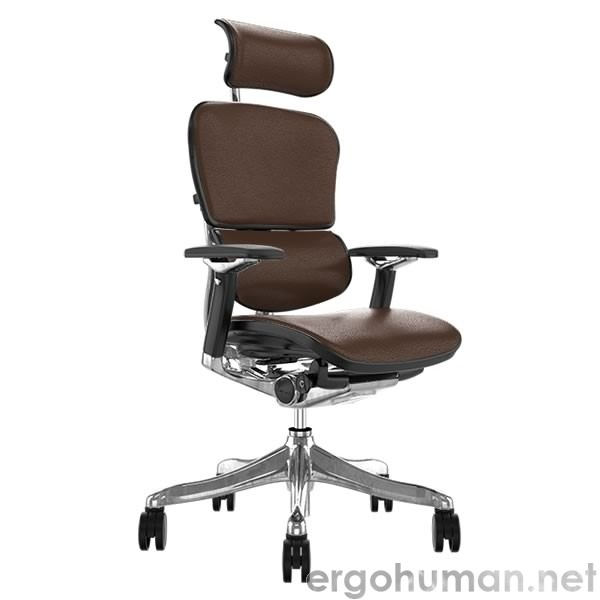 Ergohuman Plus Luxury Brown Leather Office Chair