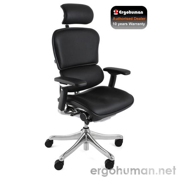 Ergohuman Plus Luxury Black Leather Office Chairs