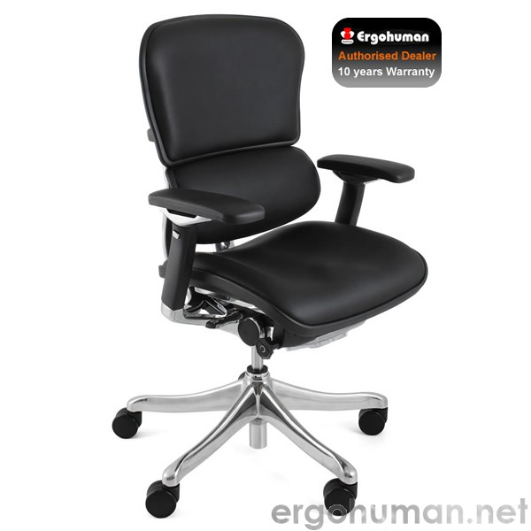 Ergohuman Plus Luxury Black Leather Office Chair