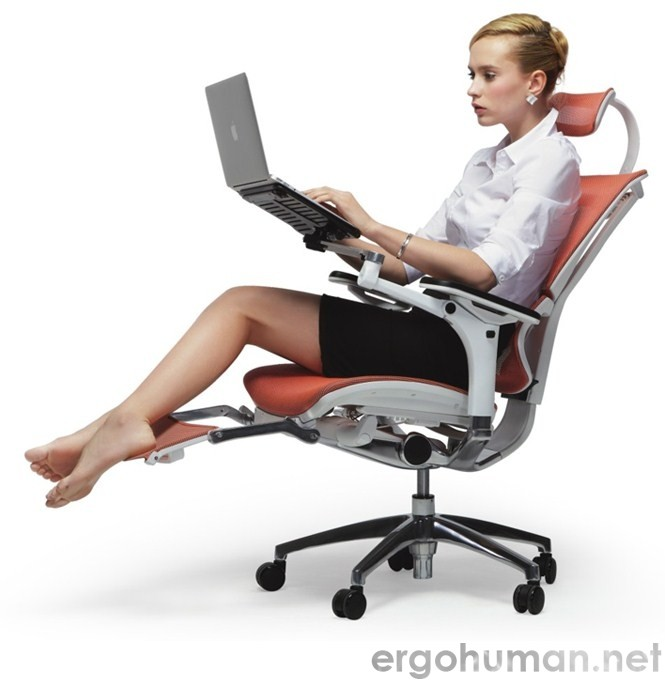 Mirus Ergonomic Office Chair with Leg Rest
